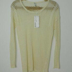 MIILLA Sweater Ivory Linen Knit Lightweight